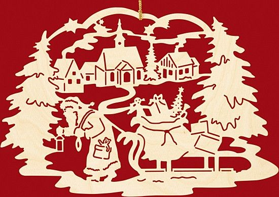 taulin fensterbild weihnachten weihnachtsmann mit schlitten dorf selbst gemacht pinterest. Black Bedroom Furniture Sets. Home Design Ideas