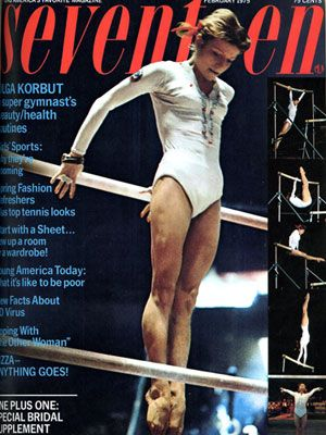 a gymnast on the cover of Seventeen magazine, that will never happen again, that is awesome