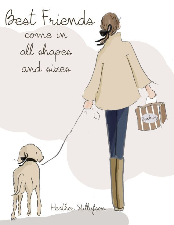 Dog Lover Art  Best Friends  Come in All by RoseHillDesignStudio