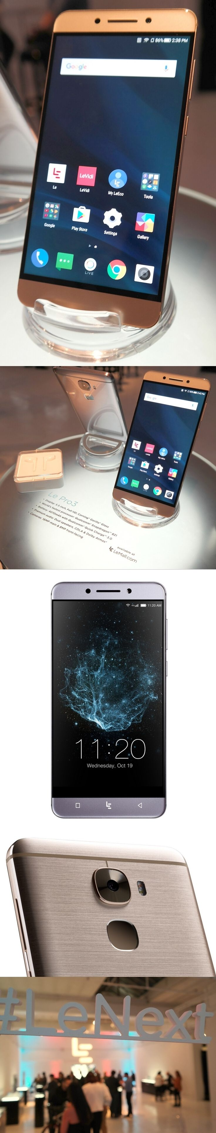 LeEco Le Pro3: The most powerful Android smartphone you've never heard of. Its Qualcomm Snapdragon 821 CPU (snappy app performance, enhanced audio and smooth video) is the same used in the Google Pixel but at $299 (after $100 rebate) it's far cheaper. It has a 5.5-inch display, 16/8 MP rear/front cameras, a fast-charging, long-lasting 4070 mAh battery, a fingerprint reader and an infrared port with a remote-control app. No headphone jack, but earbuds for its USB-C port are included.