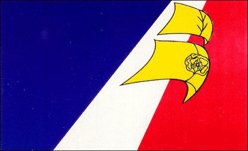 Cet est le drapeau du francophone dans la Terre-Neuve-et-Labrador. (Ishika)