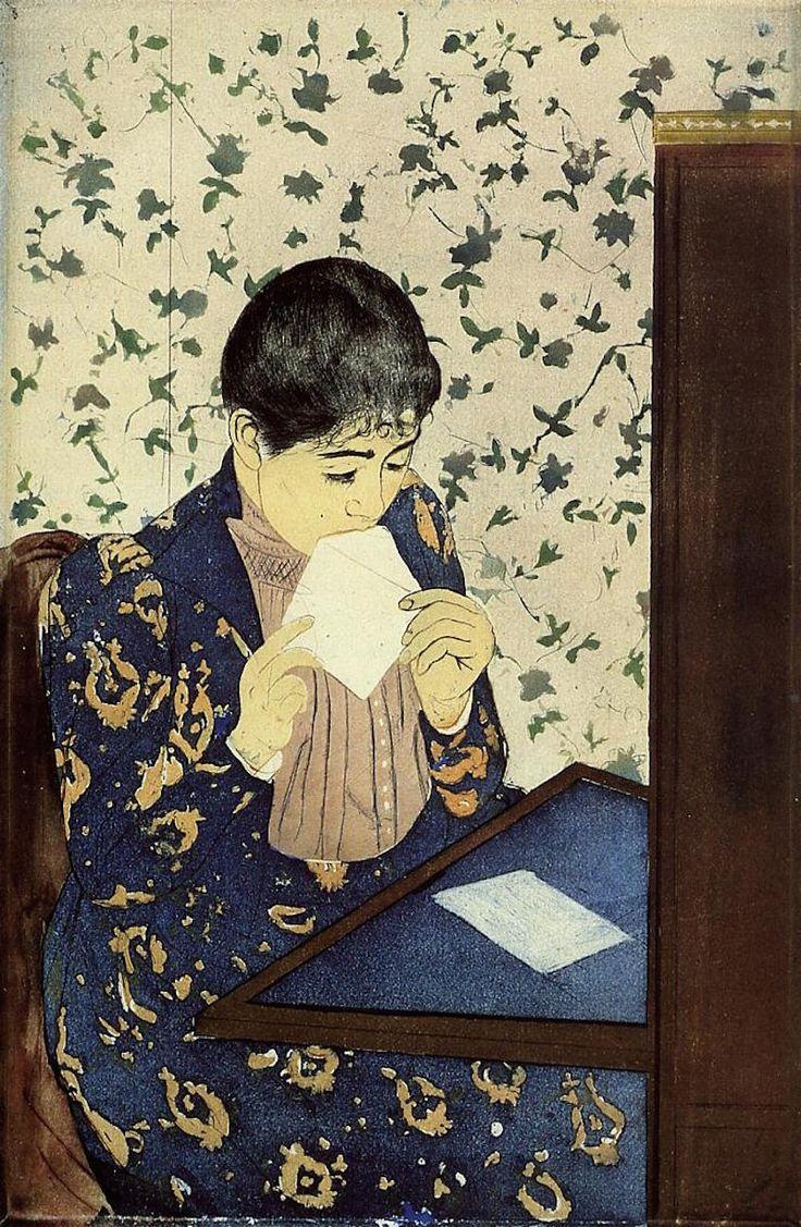 Картина Мэри Кассат - Письмо