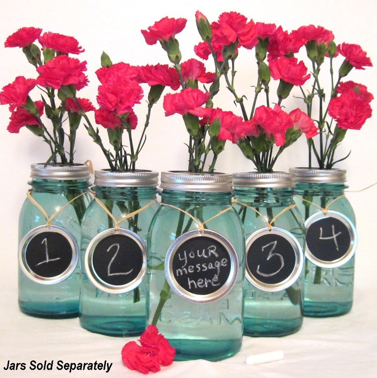 Party Table Numbers for Wedding Party Centerpiece Handmade Chalkboard Message Charms  Custom Order by TreasureAgain. $54.00, via Etsy.