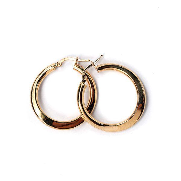 Σκουλαρίκια κρίκοι χρυσό Κ14 -7048
