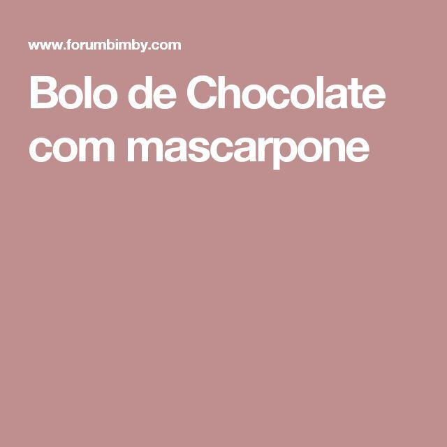 Bolo de Chocolate com mascarpone
