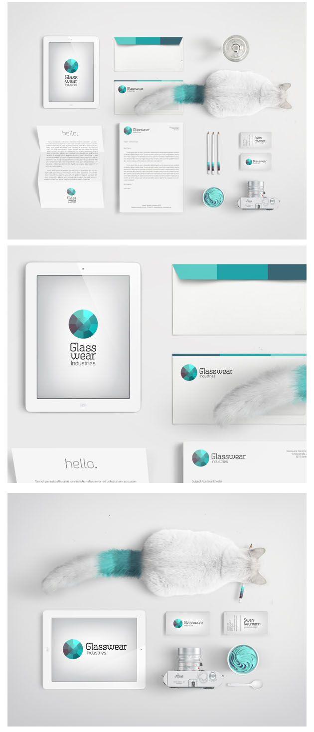 Glasswear   #stationary #corporate #design #corporatedesign #identity #branding #marketing < found on www.webneel.com pinned by www.BlickeDeeler.de   Take a look at www.LogoGestaltung-Hamburg.de