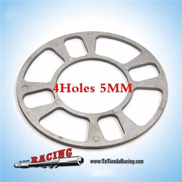 Espaciador de Rueda Coche Universal de Aluminio 5mm Para Neumáticos de 4 Agujeros -- 3,64€ Envío gratuito a toda España en todos los productos