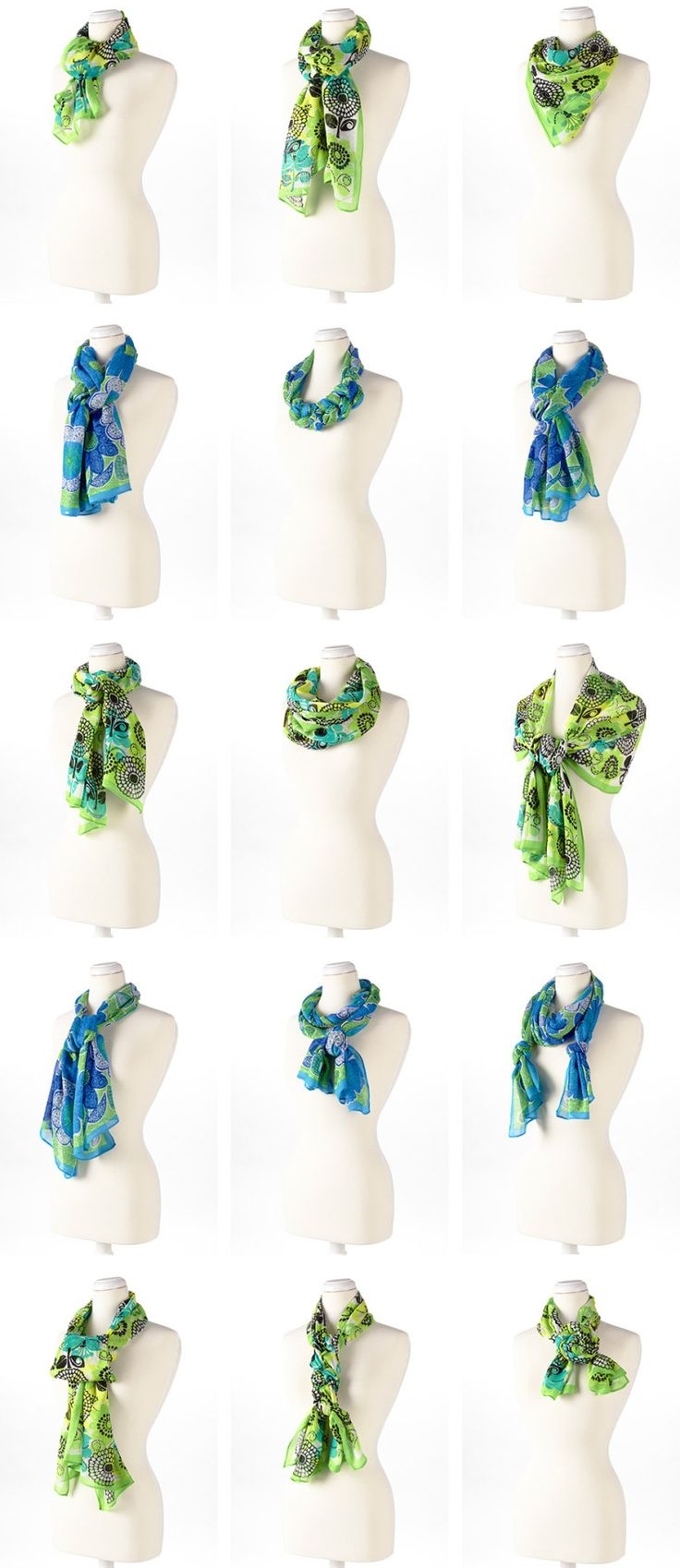 Some great ideas for tying those scarves as the days get colder. #scarves #fall #fashion