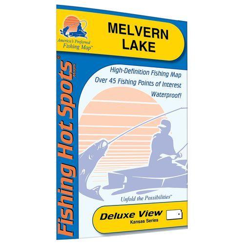 Fishing Hot Spots Melvern Lake Fishing Map - Maps at Academy Sports