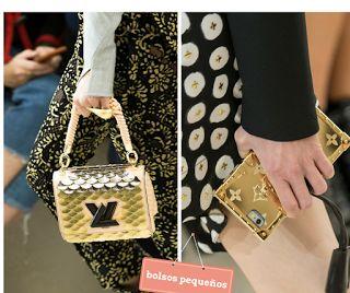 Belleza en estos mini bolsos dorados