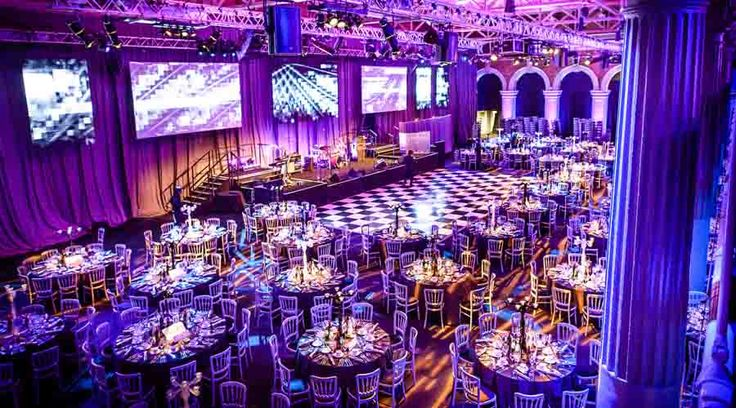 Old Billingsgate provides professional lighting and sound systems and 7800 square feet of entertaining space for festive corporate events and parties in the heart of London
