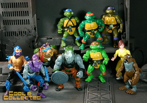 Collection of the original 1988 Teenage Mutant Ninja Turtles (TMNT) action figures