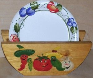 paper plate holders | Paper Plate Holder Chili Pepper Theme by WOODNUTTS on Etsy review at & 37 best Paper Plate Holders images on Pinterest | Paper plates ...