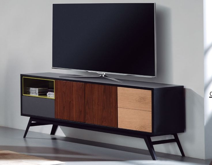 meuble tv contemporain chne et anthracite duchesse - Meuble De Tv Moderne