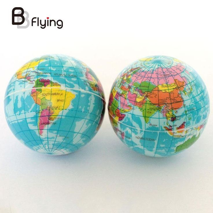 Earth Stress Relief Bouncy Ball World Atlas Geography Map For Kids Children