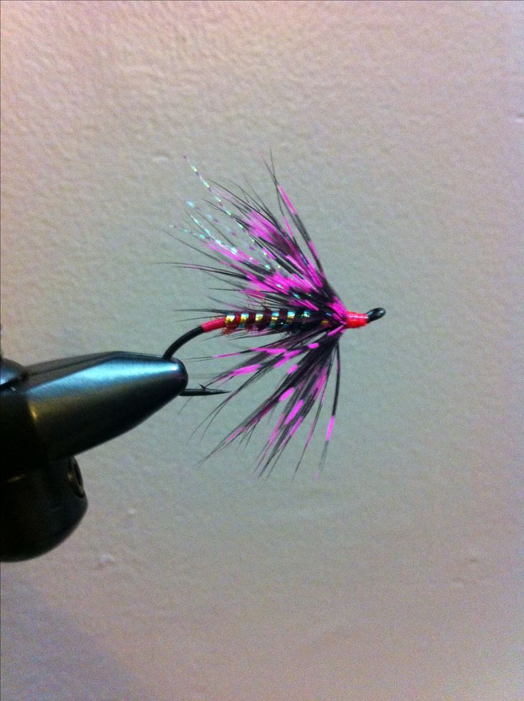 "#Steelhead fly- ""Iced Pink Lady"" by Stephen Vandervort."