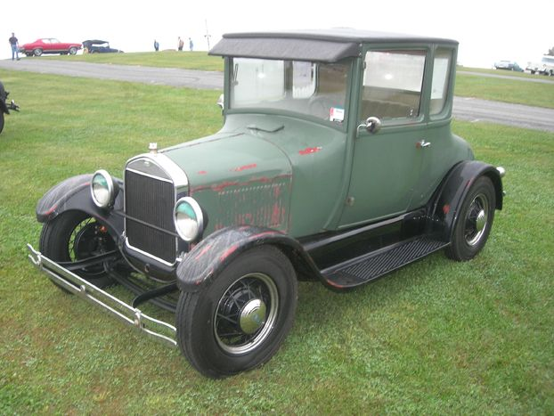 while appearing stock this 1927 ford model t coupe offered for sale in the car corral was. Black Bedroom Furniture Sets. Home Design Ideas