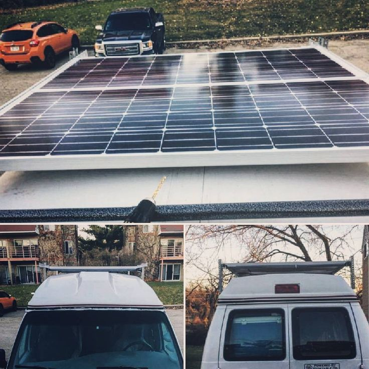 Completed the roof rack with solar panels today. Ready to head out on Saturday!  #solarpower #solarpanel #greenenergy #ecofriendly #environmentallyfriendly #solar  #vanbuild #vancation #campervan  #vanlife #repurposed #green #tinker #travels #wanderlust #madisonwi