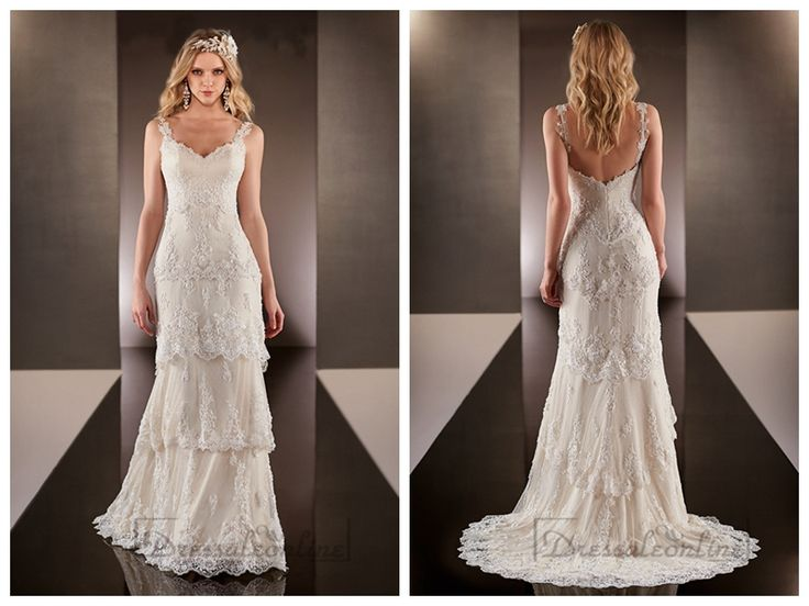 straps-dramatic-v-neck-lace-over-wedding-dresses-with-layered-scalloped-skirt