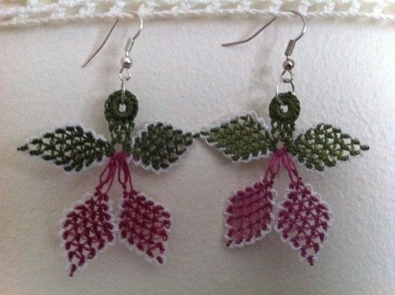 Oya Lace Earrings by CouchCrochetCrumbs on Etsy, $10.50