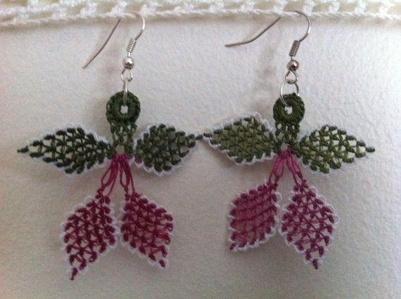 Oya Lace Earrings by CouchCrochetCrumbs on Etsy, $10.50