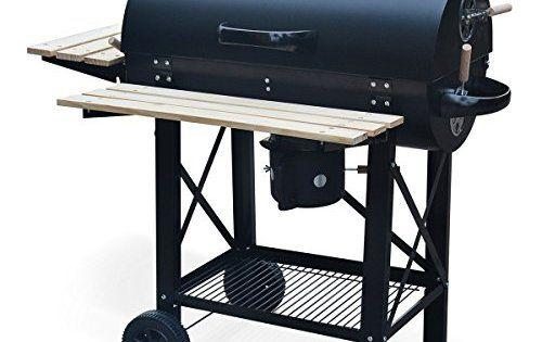 Alice's Garden – Barbecue américain charbon de bois – Serge noir – Smoker américain avec aérateurs, récupérateur de cendres, fumoir: Ce…