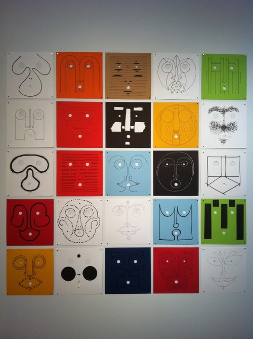 What a great way to look at faces in a new light!  Based on Bruno Munari's work