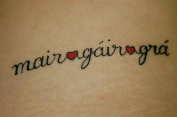 just itching for another one!! live laugh love in gaelic