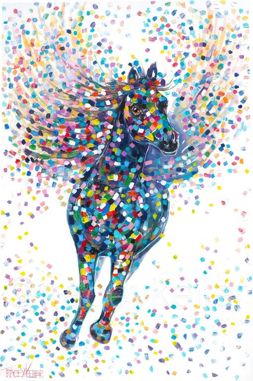 The Dreamer Tracey Keller Horse Painting