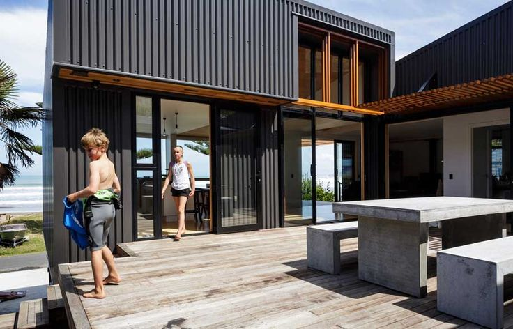 A modern beach house informed by an old shed