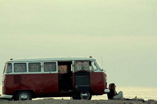 Buses, Old Schools, The Roads, At The Beach, Vw Bus, Travel, Roads Trips, Vw Vans, Dreams Cars