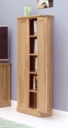 Fresh solid Oak Dvd Storage Cabinet