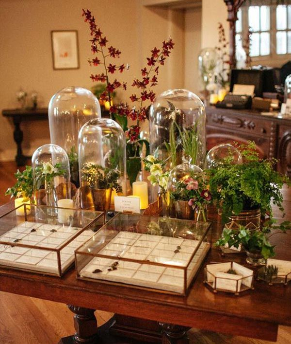 A Guide To Using Pinterest For Home Decor Ideas: Bell Jars & Cloches Wedding