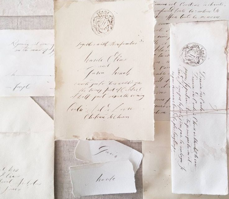 French Vintage Wedding Invitations: French Inspired Wedding Suite