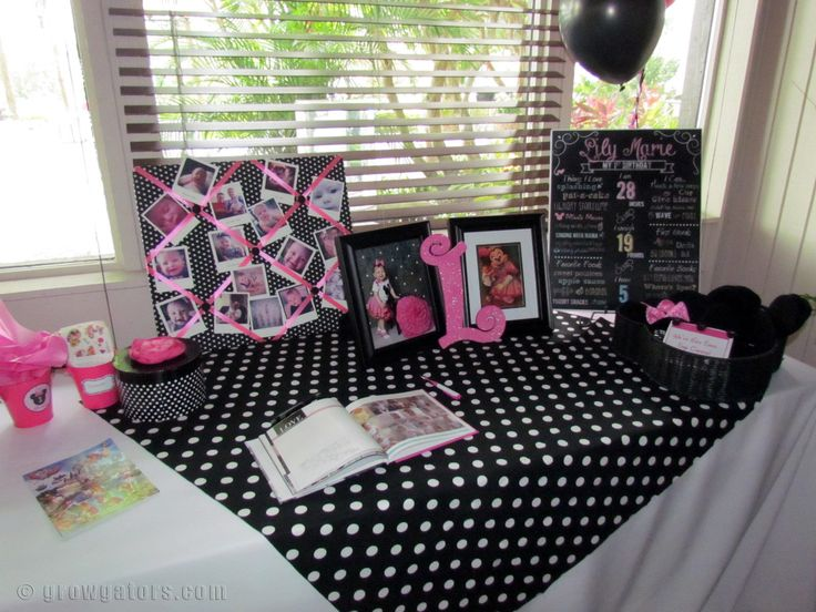 25 best minnie mouse 1st birthday party images on for Table design for 1st birthday