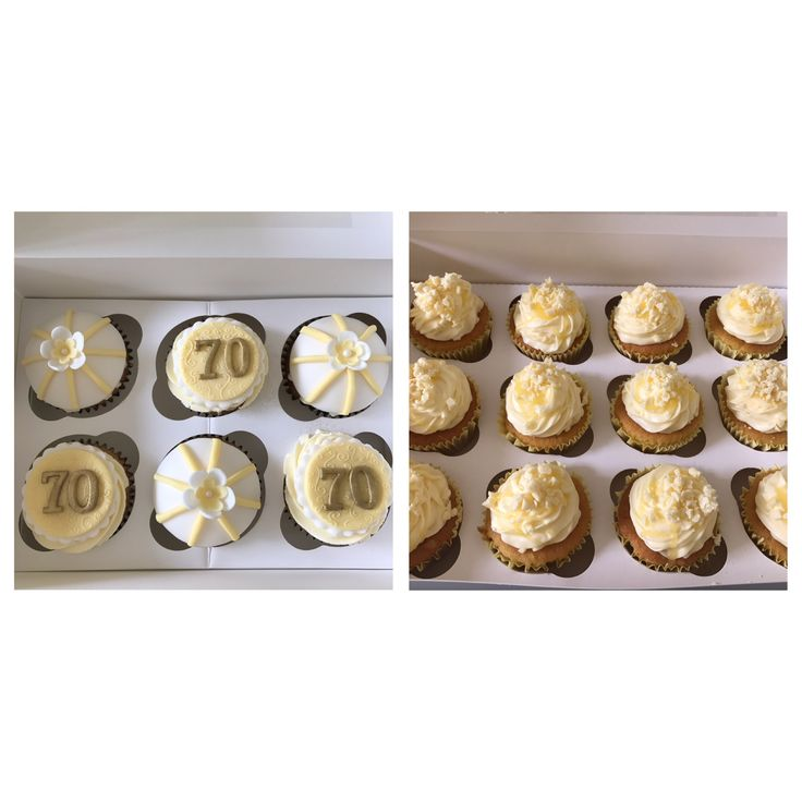 Lemon birthday cupcakes