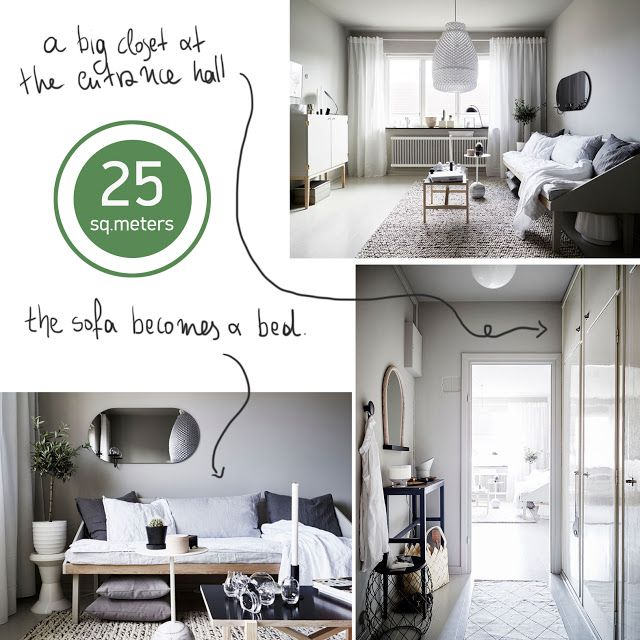 small space decoration, 25 sq.m. • the round button blog