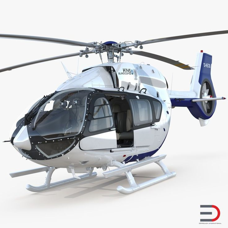 3D model Light Utility Helicopter Eurocopter EC145 T2 Rigged