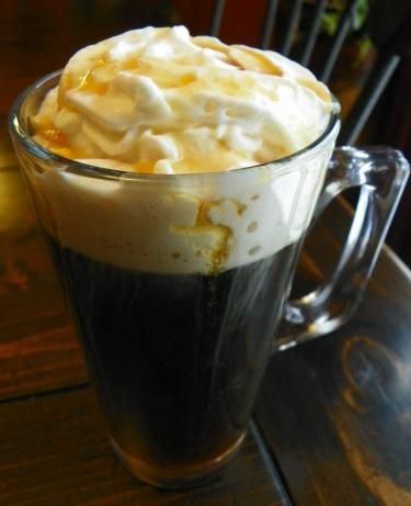 Canadian Coffee: whipped cream + maple syrup + whiskey + black coffee