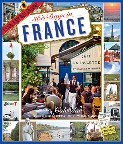 365 Days in France 2019 Calendar: Picture-a-day - What is the world's #1 tourist destination? Easy: France, to the tune of 79 million visitors annually. Now in its 25th spectacular year of strong sales and sell-through, 365 DAYS IN FRANCE elevates the Francophile experience in hundreds of full-color photographs by Steven Rothfeld, with text by t...