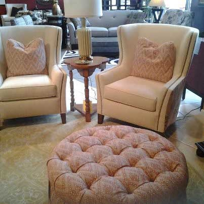 We just returned from the Smith Brothers furniture show where we saw some amazing new styles and fabrics. We will feature some in our showroom very soon!