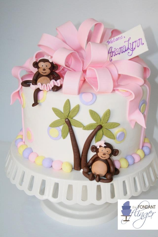Monkey Baby Shower Cake | Małpki | Pinterest | Pastelitos, Tortilla Y  Fondant