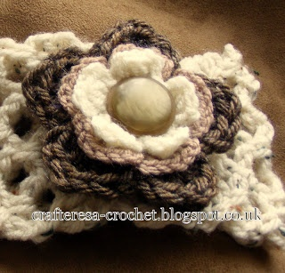 chunky headbandhand crochet with removable flower