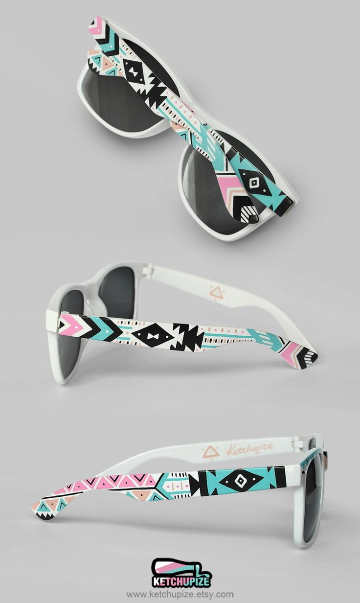 Sunglasses  Aztec print Tribal trend fashion