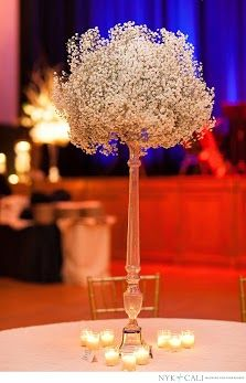 Babys Breath - for the high top tables during out cocktail hour?