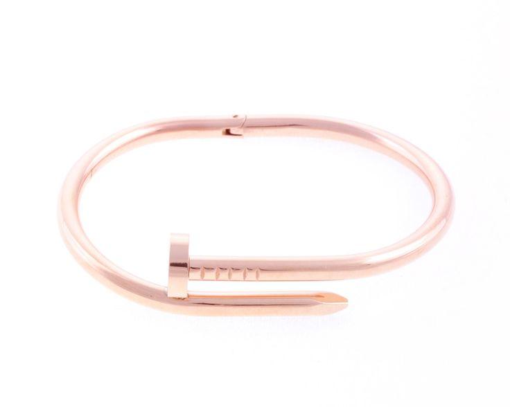 Nail bracelet in rose gold