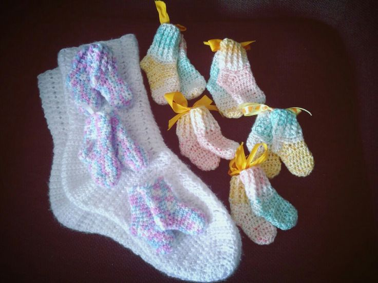 Snow-white socks for me, size 26cm, colorfull ones for Preemies, size 5cm... unbelievable diference