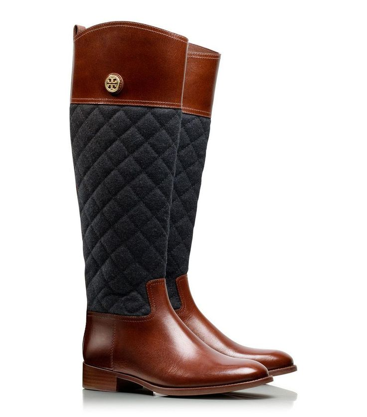Like this Tory Burch Quilted Riding Boots