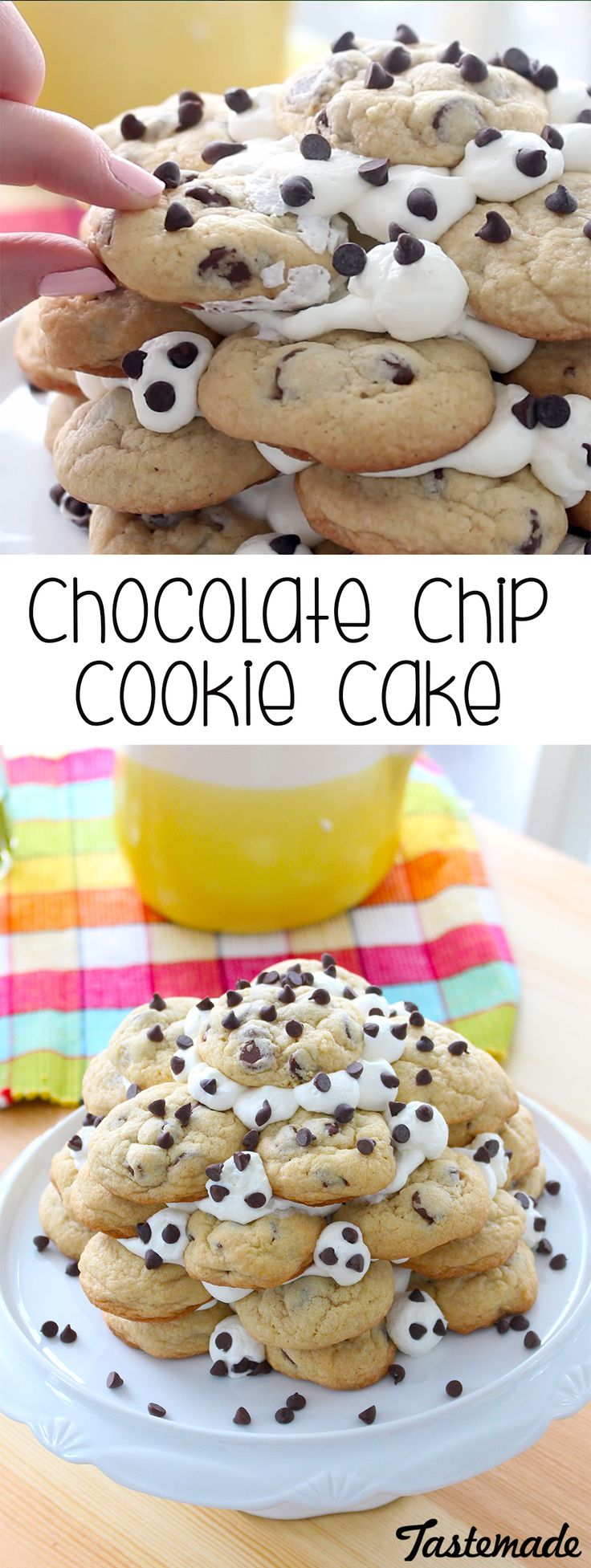 A little whip cream turns chocolate chip cookies into so much more.