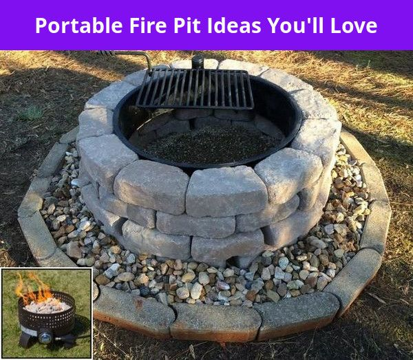 Portable Diy Steel Fire Pit Ideas And Cheap Fire Pit Area Ideas In 2020 Outdoor Fire Pit Designs Fire Pit Fire Pit Backyard